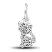 Kitty Cat Crystal Dangle Bead for DaVinci Inspirations® Jewelry