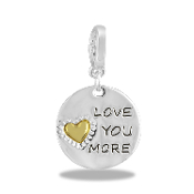 LOVE YOU MORE Drop Accessory by Forever In My Heart® Lockets