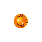 Orange Round Crystal Charm for Lockets