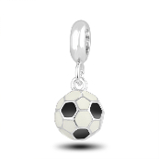 Soccer Ball Dangle Charm for Beaded Jewelry