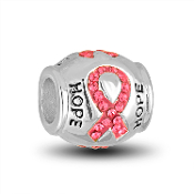 Breast Cancer Awareness Bead for Beaded Jewelry