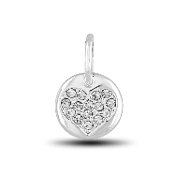 Crystal Heart Charm Bead for DaVinci Inspirations® Jewelry