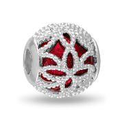 Red Decorative Cut Out DaVinci Bead