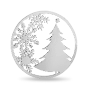 Christmas Tree Background Disc for Forever in My Heart Lockets