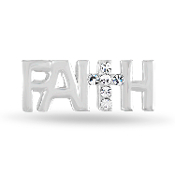FAITH with Cross Large Charm for Forever in My Heart Lockets