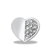 Heart with Crystal Charm for Forever in My Heart Lockets