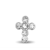 Cross with Crystal Charm for Forever in My Heart Lockets