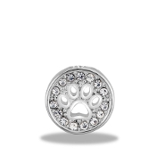 Paw Print with Crystal Charm for Forever in My Heart Lockets
