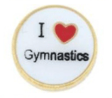 I LOVE GYMNASTICS Charm For Lockets