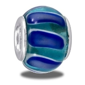 Light and Dark Blue Wave Bead - TRUNK SALE - No Further Discount