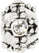 Crystal and Silver Plate Fancy Bead by Amanda Blu