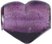 Purple Foil Heart Bead by Amanda Blu