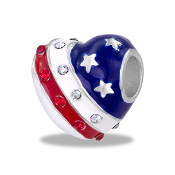 Flag Heart Bead by DaVinci