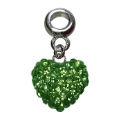 August - Austrian Crystal Double Sided Heart Pave Bead