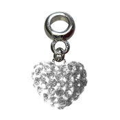 April - Austrian Crystal Double Sided Heart Pave Bead