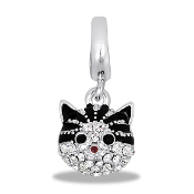 Cat Face Crystal Bead by DaVinci