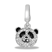 Panda Bear Crystal Bead by DaVinci