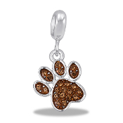 Paw Crystal Bead by DaVinci