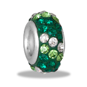 Green Dimensional Slim Pave Bead by DaVinci