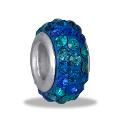 Peacock Dimensional Slim Pave Bead by DaVinci