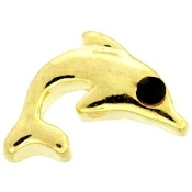 Gold Dolphin Charm For Forever In My Heart Lockets by DaVinci