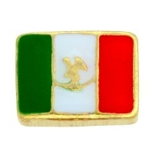 Mexican Flag Charm For Lockets - TRUNK SALE NO OTHER DISCOUNT