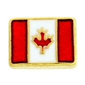 Canadian Flag For Lockets - TRUNK SALE NO OTHER DISCOUNT