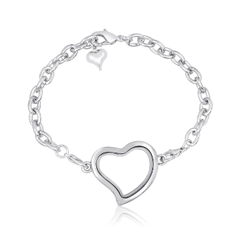 Heart Silver Bracelet With Locket