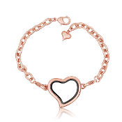 Heart Rose Gold Bracelet With Locket