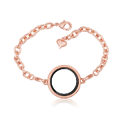 Round Rose Gold Bracelet With Locket