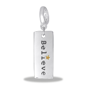 BELIEVE Drop Dangle For Lockets