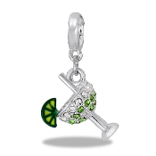 Crystal Margarita Drop Dangle For Lockets