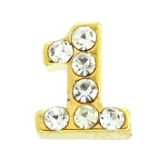 Number Charm For Lockets-Gold (Click Options For Number)