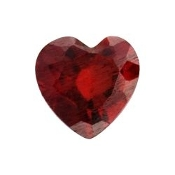1- January Heart Birthstone Charm For Lockets