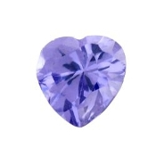 2- February Heart Birthstone Charm For Lockets