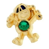 5- May Boy Birthstone Charm For Lockets