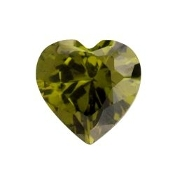8- August Heart Birthstone Charm For Lockets
