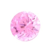 10- October Round Birthstone Charm For Lockets