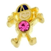 10- October Boy Birthstone Charm For Lockets