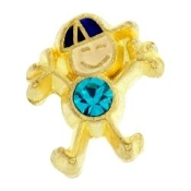 12- December Boy Birthstone Charm For Lockets