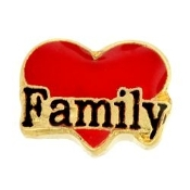 FAMILY Heart Charm For Lockets