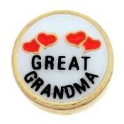 GREAT GRANDMA Heart Charm For Lockets