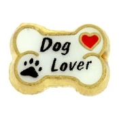 DOG LOVER Bone Charm For Locket