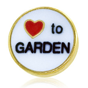 LOVE TO GARDEN Charm For Lockets