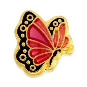 Pink Butterfly Charm For Lockets