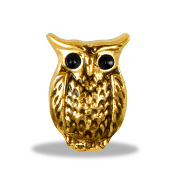 Gold Owl Charm For Lockets
