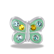Butterfly Crystal Charm For Lockets