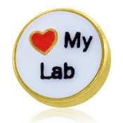 LOVE MY LAB Charm For Lockets