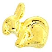 Rabbit (Gold) Charm For Lockets - TRUNK SALE NO OTHER DISCOUNT