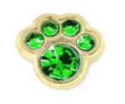 5- May Paw (Green Crystal) Charm For Lockets